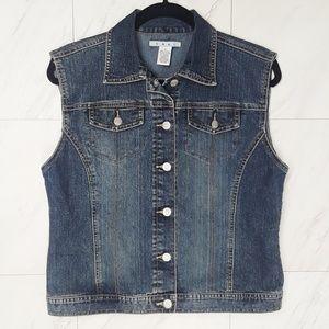 CAbi Denim Jean Vest Size Small